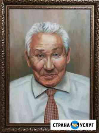 Портрет маслом на холсте по фото на заказ Красногорск