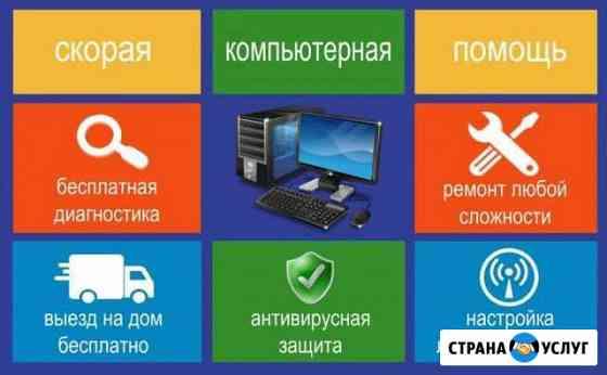 Ремонт компьютеров и ноутбуков на дому Владикавказ