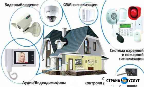 Охранная,пожарная сигнализации,видеонаблюдение Владимир