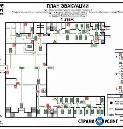 Изготовление планов эвакуации и исполнительных док Владимир