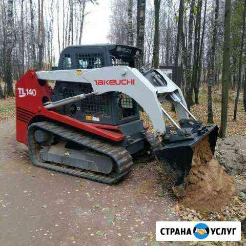 Аренда Мини-погрузчик takeuchi TL140 на гусенецах Москва