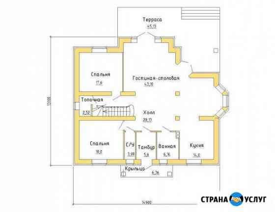 Проект мансардного дома 14,9 х 13,1 №71 Старый Оскол