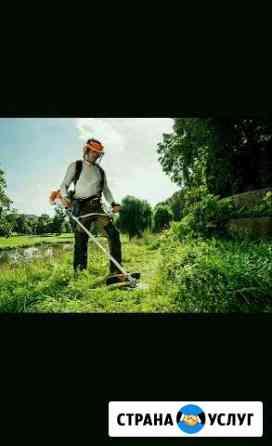 Покос травы триммером Уфа