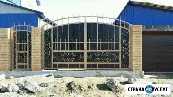 Ворота, забор из проф. листа, евроштакетника Абакан