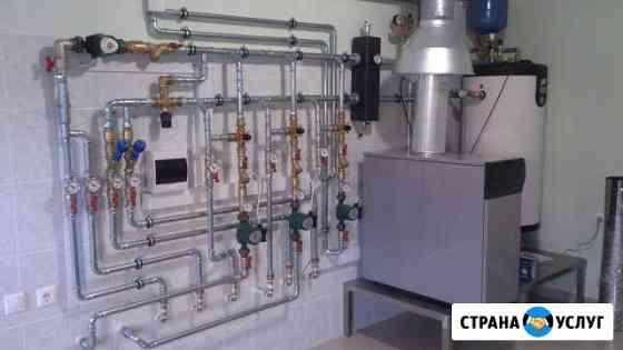 Монтаж систем отопления и водопровода Яблоновский