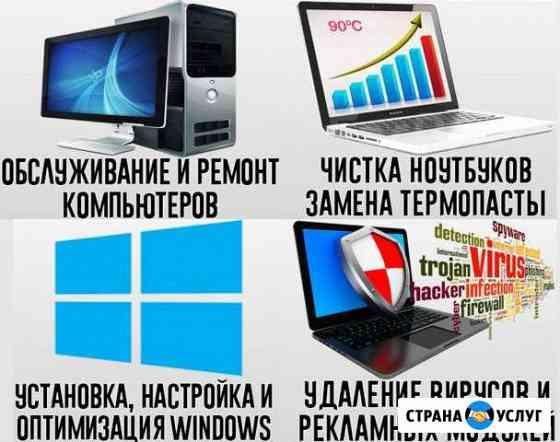 Ремонт компьютеров и ноутбуков. Выезд Бесплатно Псков
