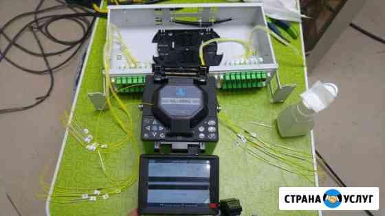 Монтаж волс сварка оптики оптоволокна рефлектограм Саранск