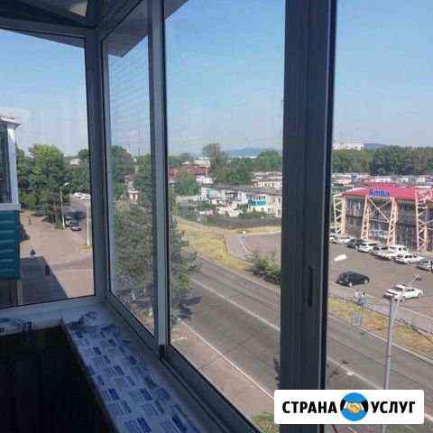 Остекление и отделка балконов и лоджий Комсомольск-на-Амуре