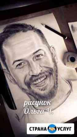 Портреты (рисунки, картины) на заказ по фото Абакан