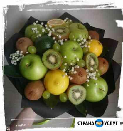 Букеты из фруктов и цветов, сухофруктов, сладостей Челябинск