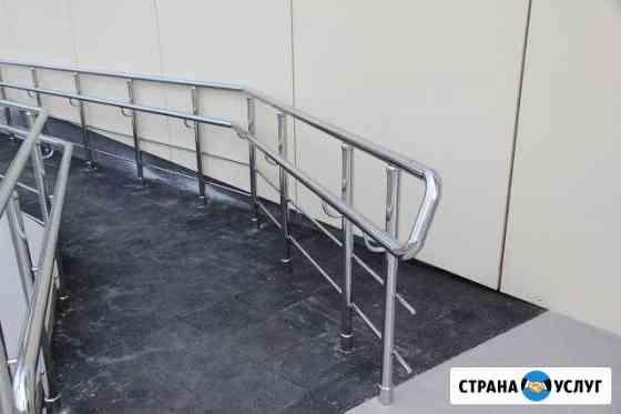 Лестницы,поручни,перила из нержавеющей стали Челябинск
