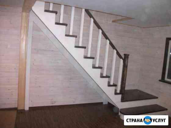 Лестницы из сосны, лиственницы, дуба Мещовск