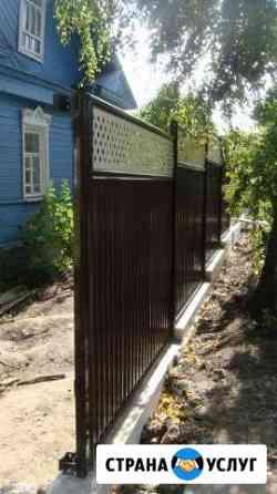 Забор монтаж Лесной