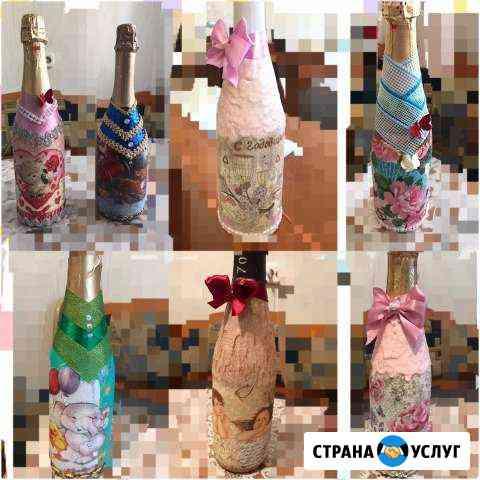 Оформление бутылок на праздники Сусуман