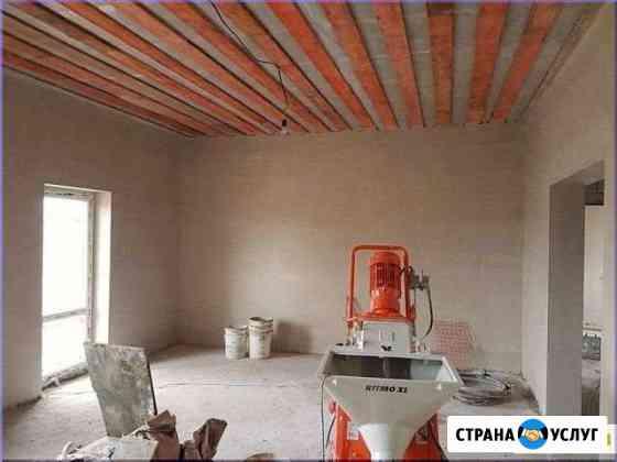 Механизированная штукатурка стен Машинная под обои Кисловодск