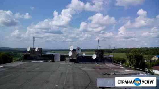 Монтаж ремонт настройка спутниковых антенн Тула