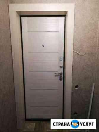 Монтаж дверей изготовление откосов Пермь