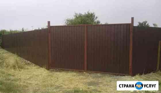 Установка заборов, откатных и распашных ворот, мет Петропавловск-Камчатский