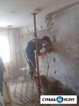 Алмазное сверление бурение резка бетона и кирпича Уфа