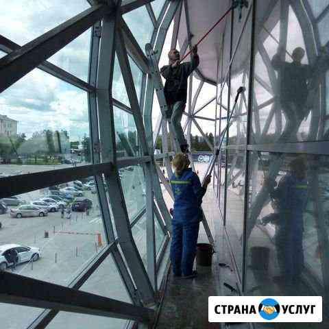Уборка после строительства/Мытье окон,фасадов Новосибирск