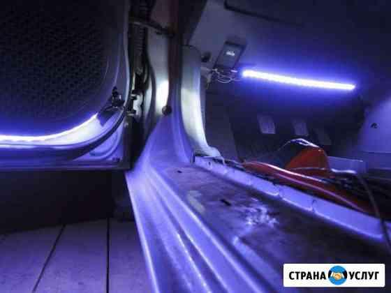 Ремонт замена подсветки салона панели Сургут