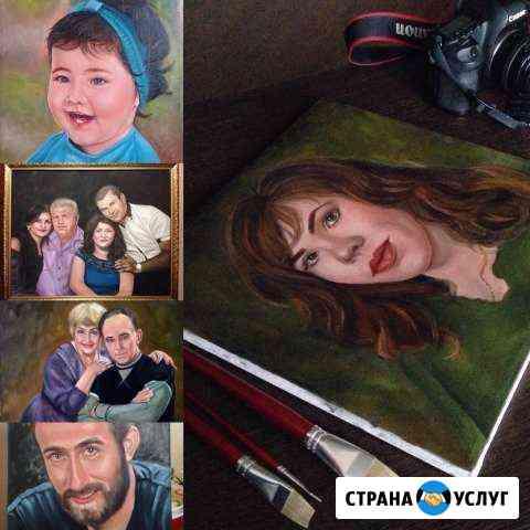 Портрет маслом на холсте на заказ по фото Абадзехская