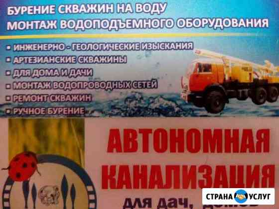 Бурение скважин на воду под ключ Димитровград