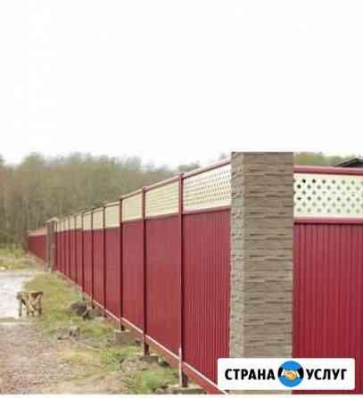 Строительство заборов из профнастила Волжск