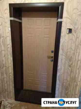 Установка откосов к входной двери Ижевск