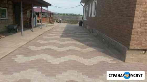 Укладка тротуарной плитки (брусчатки) Абакан