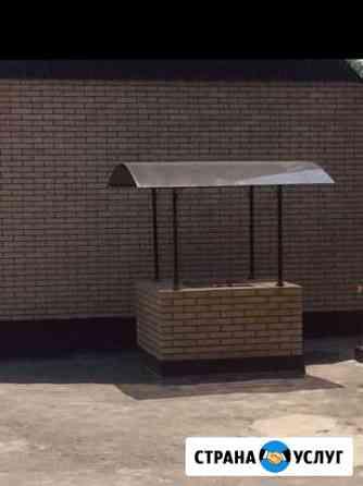 Изготовление столов лавок качелей зонтов козырьков Назрань