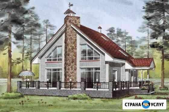 Полный проект деревянного дома из бруса Миасс