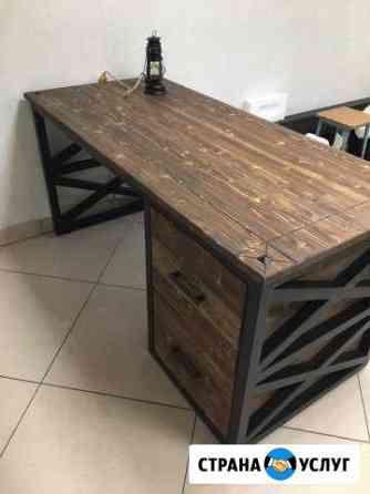 Мебель лофт. Мебель из металла и дерева Челябинск