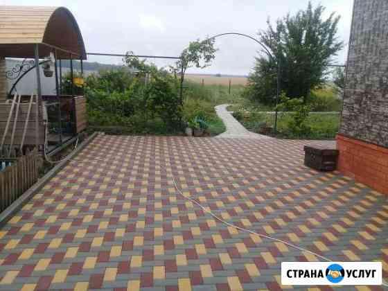 Доставка и укладка тротуарной плитки Воронеж