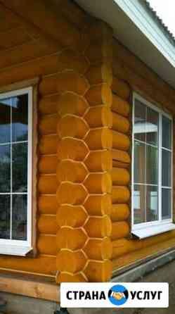 Утепление деревянных срубов,теплый шов Череповец
