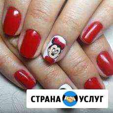 Гель-лак+апаратный маникюр+укрепление, качественно Омск