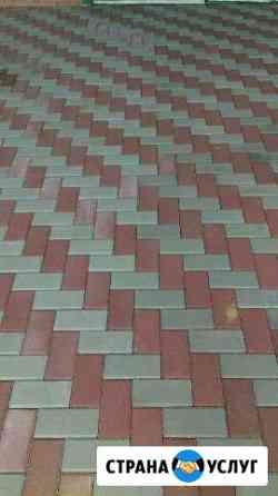 Укладка тротуарной плитки (брусчатки) Элиста