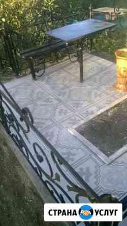 Укладка на кладбище Черкесск