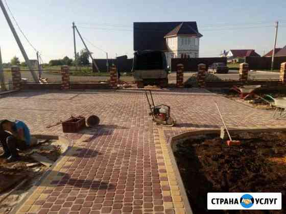Благоустройство территории (тротуарная плитка) Липецк