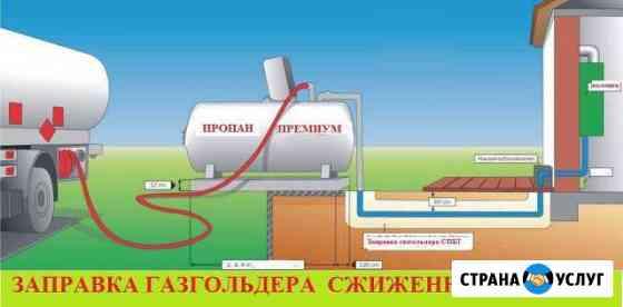 Заправка газгольдера, доставка газа Санкт-Петербург