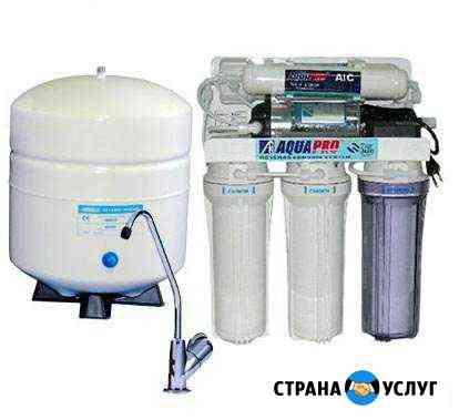Установка фильтров для воды, замена картриджей Омск