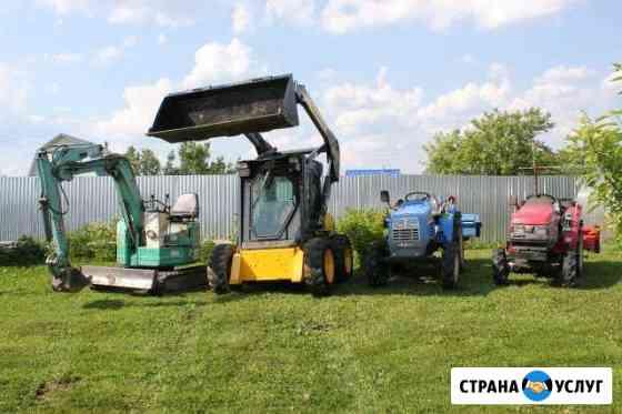 Культивация корчевание вспашка земли посев газона Дмитров