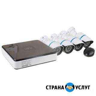 Установка, монтаж видеонаблюдения Новосибирск