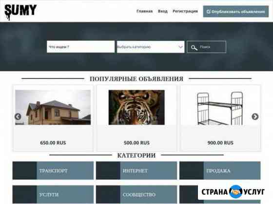 Домен вместе с сайтом sumy.club Новозыбков
