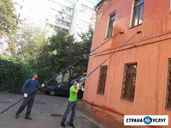 Мойка фасада витражей остекления Москва