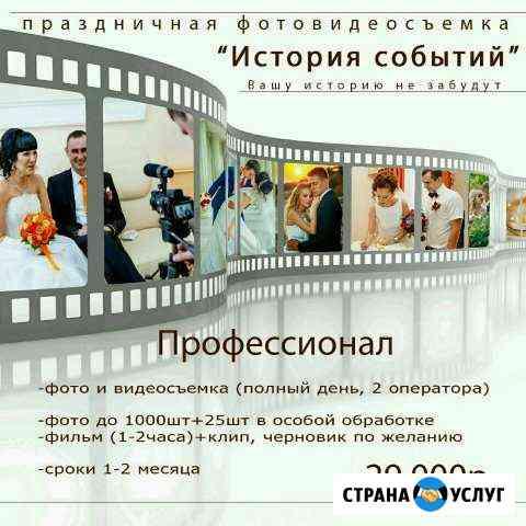 Видеооператор, видеограф, видеосъемка, монтаж Яблоновский