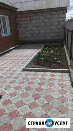 Укладка тротуарной плитки установка заборов Рославль