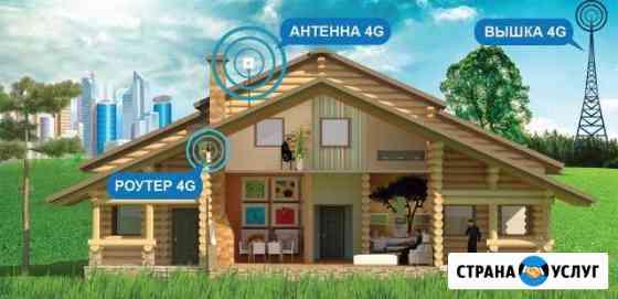 Усиление интернет сигнала 3G 4G Саранск