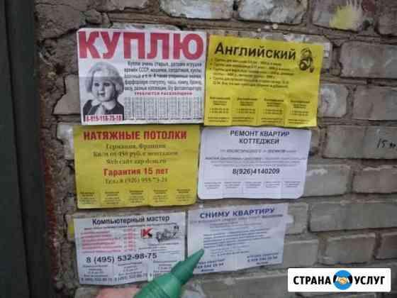 Расклейщик объявлений Киров