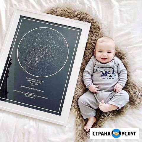Индивидуальная звёздная карта Киров